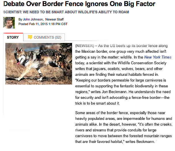 rev.BORDER FENCE & WILDLIFE