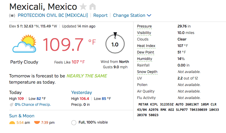 MEXICALI WEATHER